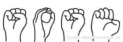 Sose in Fingersprache für Gehörlose