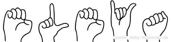 Eleya in Fingersprache für Gehörlose