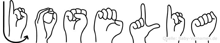 Joselia im Fingeralphabet der Deutschen Gebärdensprache
