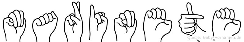 Marinete in Fingersprache für Gehörlose