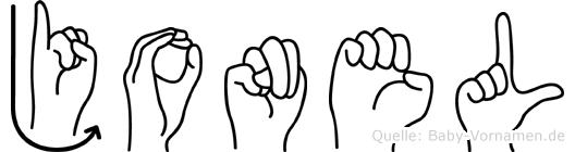 Jonel im Fingeralphabet der Deutschen Gebärdensprache