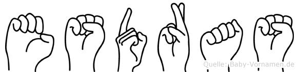 Esdras im Fingeralphabet der Deutschen Gebärdensprache