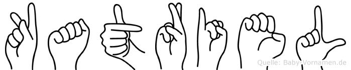 Katriel im Fingeralphabet der Deutschen Gebärdensprache