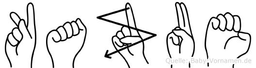 Kazue in Fingersprache für Gehörlose