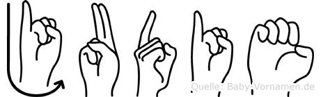 Judie in Fingersprache für Gehörlose