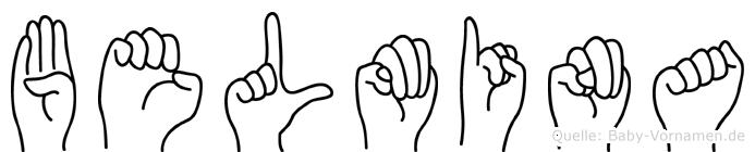 Belmina in Fingersprache für Gehörlose