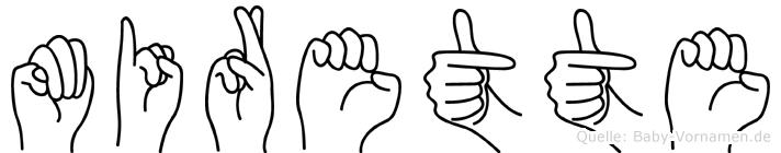 Mirette in Fingersprache für Gehörlose