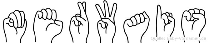 Merwais im Fingeralphabet der Deutschen Gebärdensprache