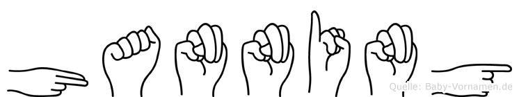 Hanning im Fingeralphabet der Deutschen Gebärdensprache