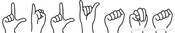 Lilyana im Fingeralphabet der Deutschen Gebärdensprache