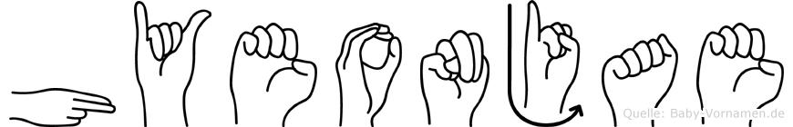 Hyeonjae in Fingersprache für Gehörlose