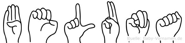 Beluna in Fingersprache für Gehörlose