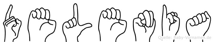 Delenia im Fingeralphabet der Deutschen Gebärdensprache
