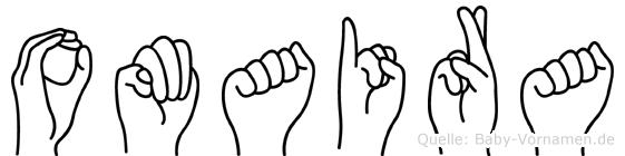 Omaira im Fingeralphabet der Deutschen Gebärdensprache