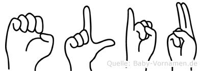 Eliu in Fingersprache für Gehörlose