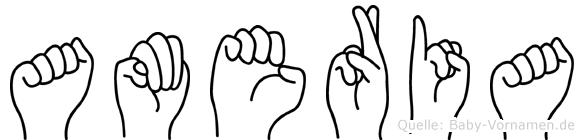 Ameria in Fingersprache für Gehörlose