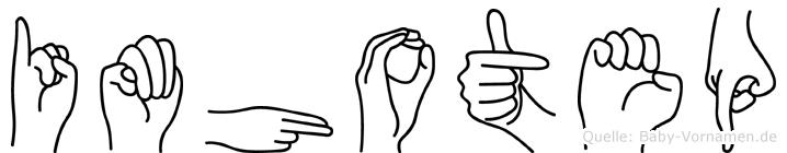 Imhotep in Fingersprache für Gehörlose
