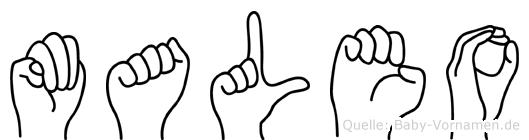 Maleo in Fingersprache für Gehörlose