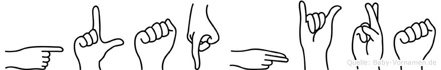 Glaphyra in Fingersprache für Gehörlose