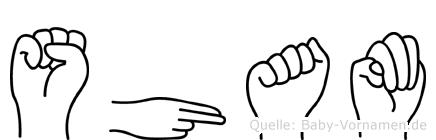 Sham in Fingersprache für Gehörlose