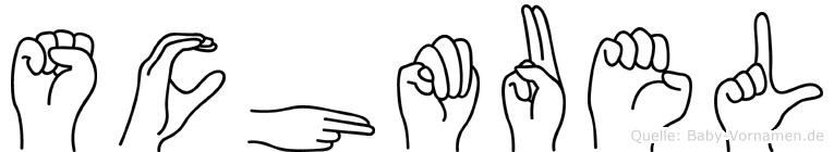 Schmuel im Fingeralphabet der Deutschen Gebärdensprache