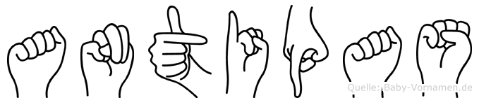 Antipas in Fingersprache für Gehörlose