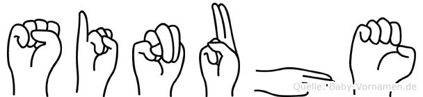 Sinuhe im Fingeralphabet der Deutschen Gebärdensprache