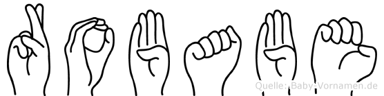 Robabe im Fingeralphabet der Deutschen Gebärdensprache