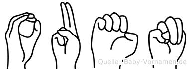 Ouen im Fingeralphabet der Deutschen Gebärdensprache
