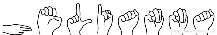 Helianna im Fingeralphabet der Deutschen Gebärdensprache