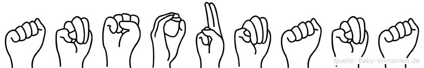 Ansoumana in Fingersprache für Gehörlose