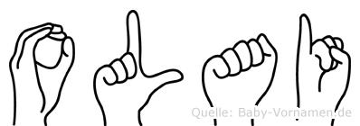 Olai im Fingeralphabet der Deutschen Gebärdensprache