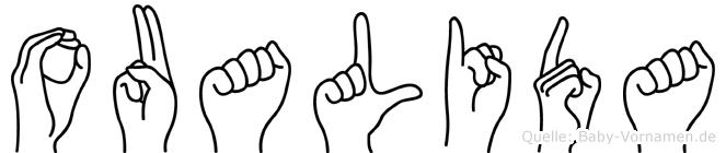 Oualida in Fingersprache für Gehörlose