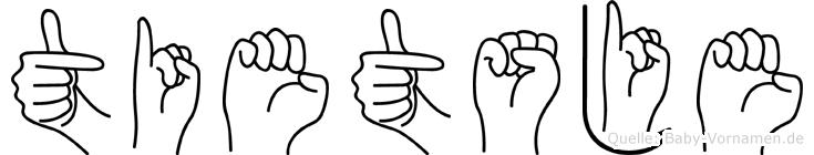 Tietsje im Fingeralphabet der Deutschen Gebärdensprache