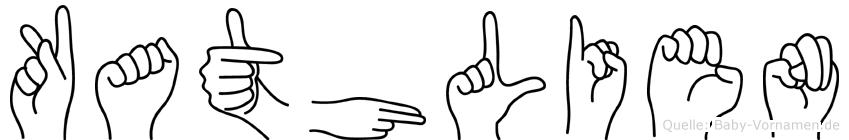Kathlien im Fingeralphabet der Deutschen Gebärdensprache