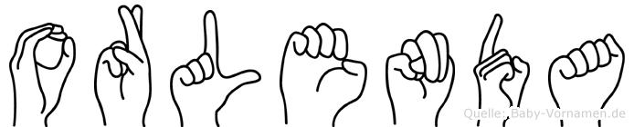 Orlenda im Fingeralphabet der Deutschen Gebärdensprache