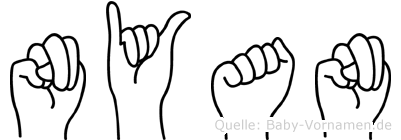 Nyan im Fingeralphabet der Deutschen Gebärdensprache