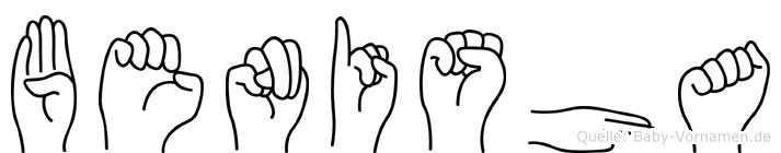 Benisha im Fingeralphabet der Deutschen Gebärdensprache