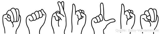 Marilin im Fingeralphabet der Deutschen Gebärdensprache
