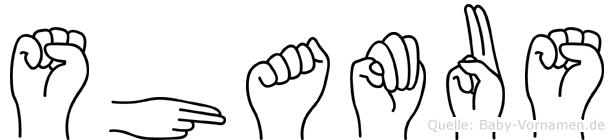 Shamus im Fingeralphabet der Deutschen Gebärdensprache