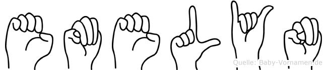 Emelyn im Fingeralphabet der Deutschen Gebärdensprache
