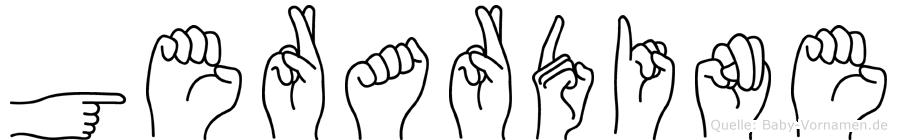 Gerardine in Fingersprache für Gehörlose