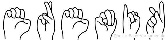Erenik in Fingersprache für Gehörlose
