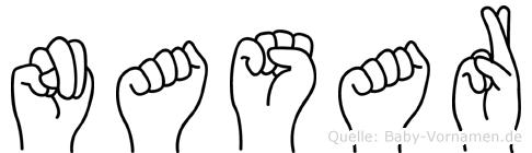 Nasar im Fingeralphabet der Deutschen Gebärdensprache