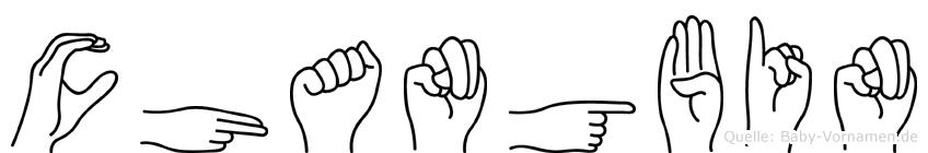 Changbin in Fingersprache für Gehörlose