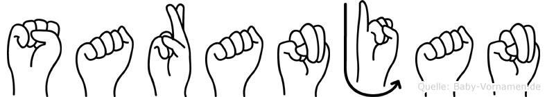 Saranjan in Fingersprache für Gehörlose