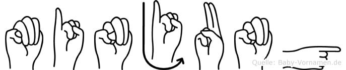 Minjung in Fingersprache für Gehörlose