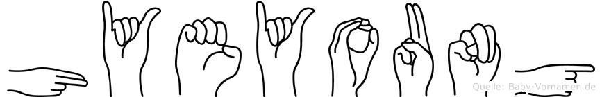 Hyeyoung in Fingersprache für Gehörlose