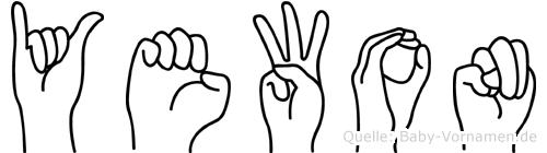 Yewon im Fingeralphabet der Deutschen Gebärdensprache