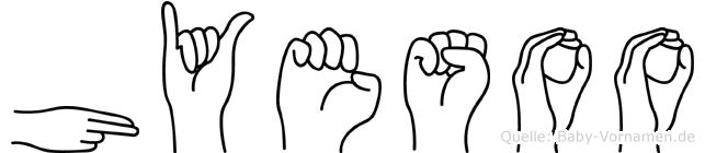 Hyesoo in Fingersprache für Gehörlose